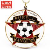 Il premio su ordinazione poco costoso di sport del metallo di vendita calda mette in mostra il gioco del calcio dei trofei e delle medaglie