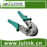 Uso de la herramienta que prensa de la red para 8p y 6p