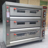 Horno de gas profesional de la pizza del equipo de la panadería del pan de la capacidad grande