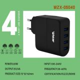 Fiche européenne 4 Port USB chargeur de voyage 5V 8A