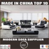 Sofá de couro barato para a sala de visitas contemporânea