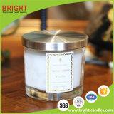 Bougie parfumée normale de cire de soja dans le choc en verre