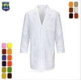 Unisex Hospital Médico uniformes del personal médico de diseños de Bata de laboratorio blanco