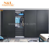 2017 Walk in Closet Furniture Wooden Knell Sliding Bedroom Wardrobe