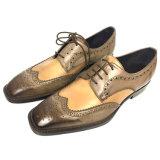 [أم] عجل جلد رجال ثوب حذاء [دربي] أحذية