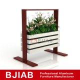 Moderna casa personalizada de muebles de roble blanco de aluminio bandeja flor