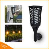 Éclairage solaire de flamme de danse de lumière de torche de jardin extérieur de 96 DEL
