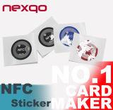 Etiqueta impermeable/etiqueta engomada/escritura de la etiqueta de 13.56MHz NFC para Phone/E-Pay/Verification elegante