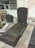 Grafstenen van het Graniet van Himalayagebergte de Blauwe met Rechte Grafstenen