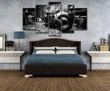 تضمينيّة [بيكتثر فرم] نوع خيش فنيّة ملصقة منزل زخرفة [شلد رووم] جدار طبع فنية [هد] 5 قطعة درّاجة ناريّة صورة زيتيّة