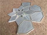 Mattonelle di mosaico Waterjet del metallo dell'Italia di disegno Mixed di marmo grigio del girasole
