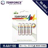 (AA/HR6) longue batterie de durée de vie du nickel 1600mAh d'hydrure rechargeable en métal avec Ios9001 pour le microphone