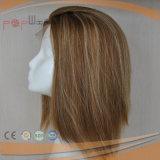 レースの前部Mutiカラー絹の上の人間の毛髪のかつら(PPG-l-0737)