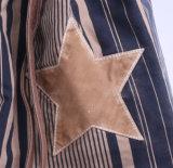 세척된 줄무늬 면 화포 쇼핑 끈달린 가방