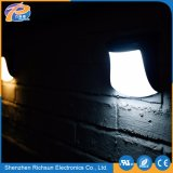 CLEAR Glass Waterproof solarly LED barrier Light outdoor