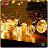 Tipo feericamente luzes do abacaxi do diodo emissor de luz de Natal da corda do diodo emissor de luz com diodo emissor de luz branco