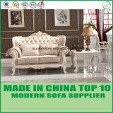 Muebles de madera clásicos salón de ocio 1+2+3 Sofá de tela
