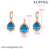 64174 de Reeks van de Juwelen van de Manier Xuping, de Juwelen van Vrouwen die met 18K Gouden Geplateerde Kleur worden geplaatst