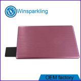 La carte mémoire Memory Stick promotionnelle du cadeau USB, Metal l'USB par la carte de crédit
