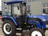 trattori agricoli a ruote agricoltura di 55HP 60HP 70HP 80HP con la baracca del A/C del Ce