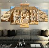 Het modulaire Cuadros van het Meisje van het Ijzer van de Affiche van 5 Comité HD Afgedrukte Decor van het Huis van de Kunst van de Muur van het Canvas van het Landschap voor Woonkamer kn-526