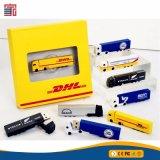 Karikatur-Auto-Form USB-Blitz-Serien-LKW USB-greller Stock