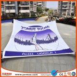 Kundenspezifisches Polyester-fördernde Fahne mit farbenreichem Drucken (JMF-53)
