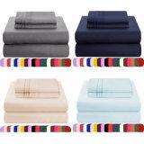 El color puro 100% poliéster sábanas de tela de microfibra