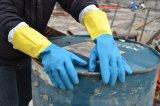 Резиновые Synthestic Diamond текстуры устойчив к химическим хлопка гильзы рабочие перчатки