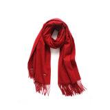 Scialle di lunghezza di vino di colore rosso di inverno popolare delle lane (LS-ACW-1002)