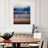 Multi-Panels moderne à la main de l'huile abstraite peintures avec la texture de sable spécial 2PCS/Set