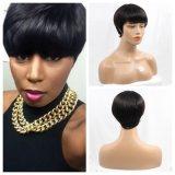 6A 급료 Capless 브라질 머리 가발 흑인 여성을%s 자연적인 형식 가발