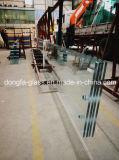 De gran tamaño de la calidad de vidrio templado, con proyecto de construcción con fines comerciales.
