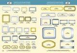 Boucle carrée en alliage de zinc de boucle de boucle de rectangle en métal d'or pour le sac