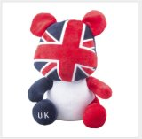 Brinquedo macio feito sob encomenda nacional da mascote do luxuoso do urso da peluche da bandeira de país