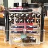La torre giratoria de acrílico de lápiz de labios Lip Gloss soporte de almacenamiento multimedia