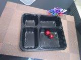 Contenitore di alimento immagazzinato a gettare della caratteristica 4compartment del contenitore di alimento di Microwavable