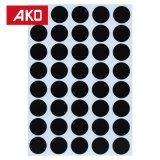 OEMは携帯用円形の部分の多彩な点の自己接着ステッカーのラベルを受け入れる