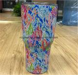 30 Oz Monogrammed Lilly Pulitzer inspirado vasos aislados de acero inoxidable