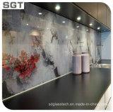 Impresión Digital de pared decorativos de vidrio pintado