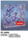 Panneau acrylique pour la décoration (la centrale étant encastré)