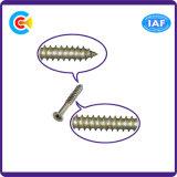 DIN/ANSI/BS/JIS Carbon-Steel/Stainless-Steel naufragio el hundimiento de la cruz del tallo apretado los tornillos de perforación