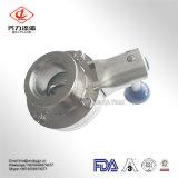 Válvula de borboleta sanitária do aço inoxidável da alta qualidade
