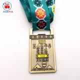 Medaglia mezza d'ottone antica su ordinazione di maratona