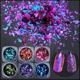 Ronda coloridos 3D Nail cintilantes, Tamanho Mistos cintilantes flocos
