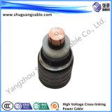 18kv XLPE isolou o cabo distribuidor de corrente blindado grosso Sheathed PVC de fio de aço