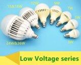 3W bajo bulbo solar de la tensión LED