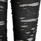 Maglia rotta gotica 100% del poliestere Legging (K-099/BK)