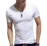 Custom печать высокого качества мужчин 100% хлопок в горловину футболки