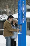 J&R alimentada a energia solar Industrial de telefone de emergência Telefone com sistema mãos livres